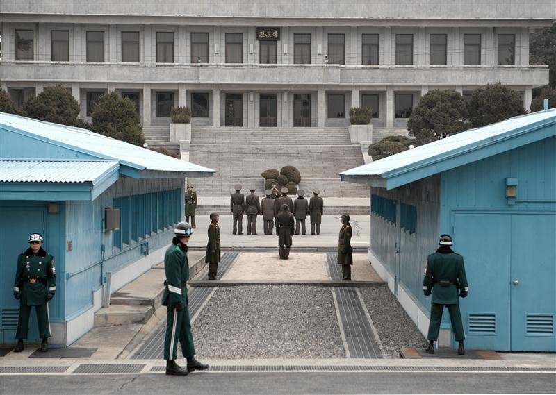Joint Security Area - North Korean Visitor Group (http://en.wikipedia.org/wiki/Korean_Demilitarized_Zone)