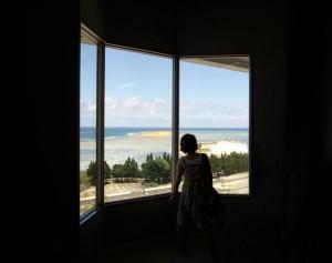 Okinawa Ocean Expo Park - Woman at Window
