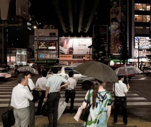 Tokyo - People waiting at Crossing