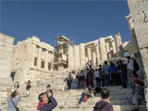 Tourists at Acropolis