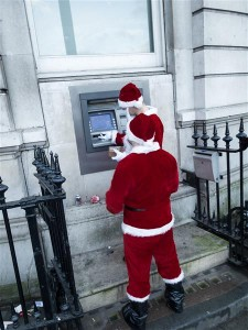 Santa is in need of Money