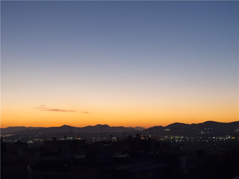 Sundowner over Athens