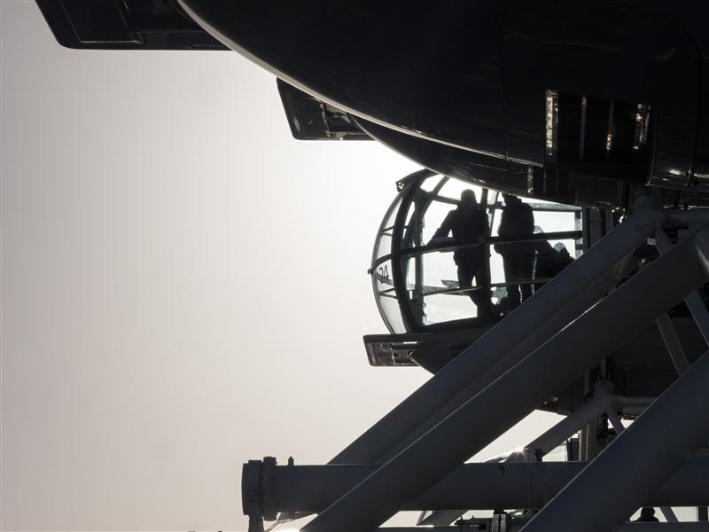 Passengers at The London Eye
